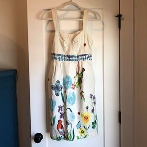 100% Cotton Anthropologie Dress with Pockets!